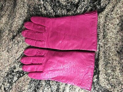 Women's Pink Leather Gloves size 7-1/2