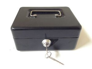Cash Box - Metal with handle and key Strathfield Strathfield Area Preview