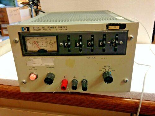 HP6111A STB Single Meter Bench/Relay Rack Transistorized DC P. Supply *JI31