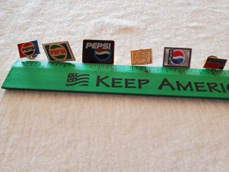 Pepsi Lapel Pins 6 Different USED