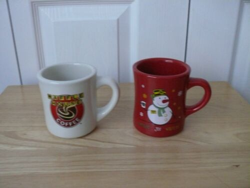 Waffle House Mugs - Two - 50th Anniversary and 2014 Christmas (Red) - Used