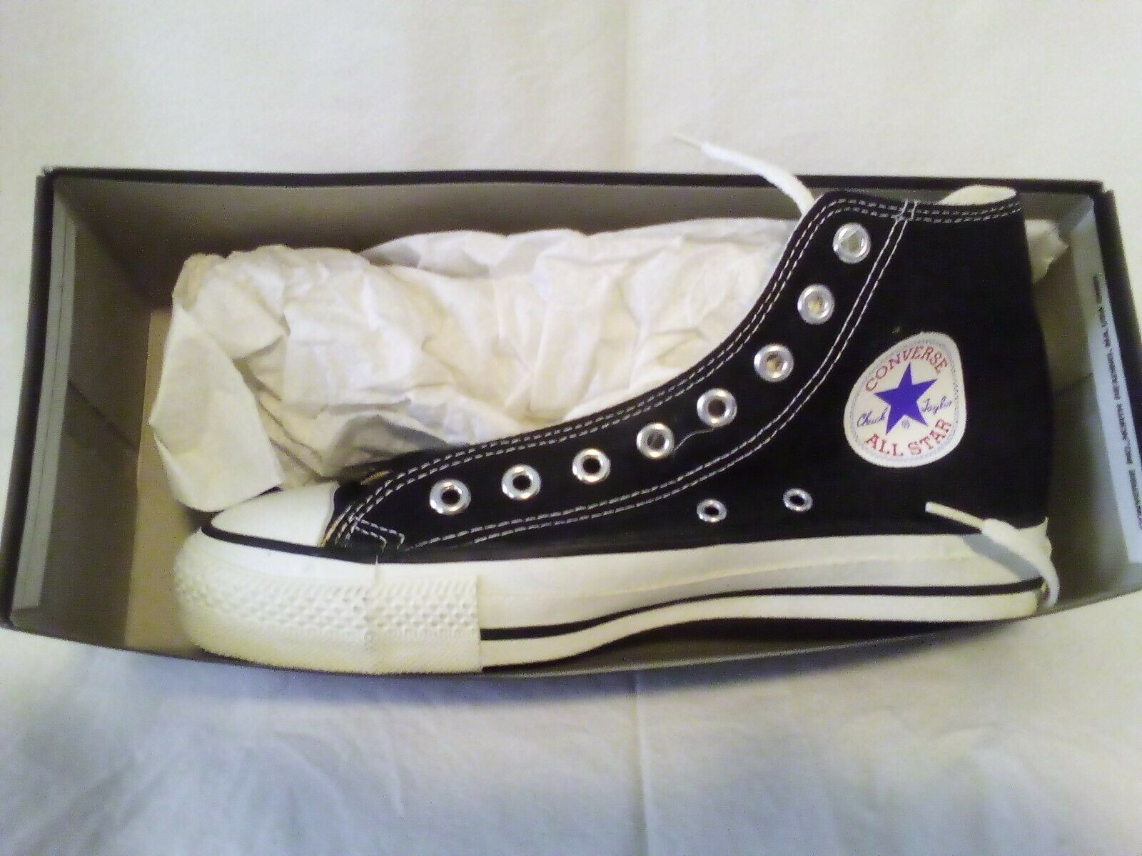 "Chuck Taylor Converse ""Vintage"".brand new made in the USA  men's.black size 7.5"