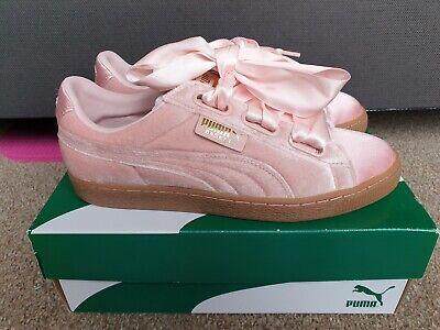 Puma Basket Heart up Sneaker Women's Silver Pink Gold UK 6.5 EU 40.