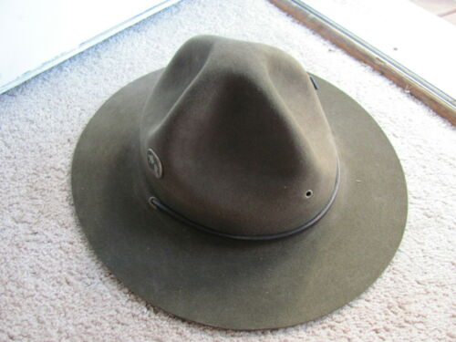 Vintage Boy Scouts Of America BSA Scoutmaster Felt Campaign Hat Size 7 1/4