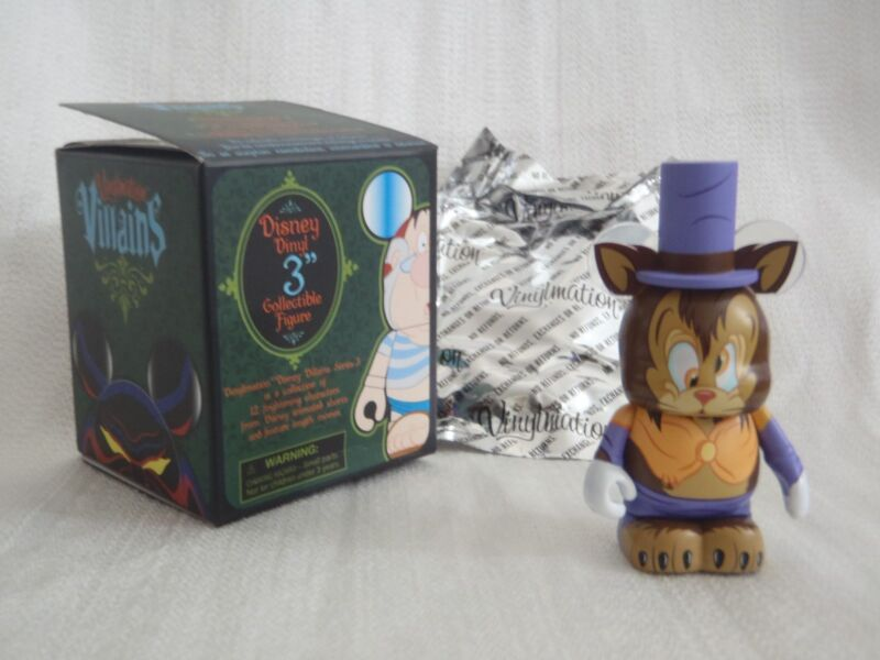"Disney Vinylmation Villains Series 3 Pinocchio GIDEON THE CAT 3"" Figure With Hat"
