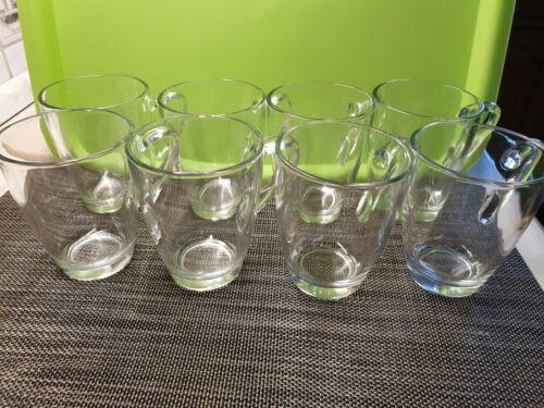 8 Stück GLASTASSE 350 ml / Tassen Set Glas Gläser Teebecher Becher Teegläser