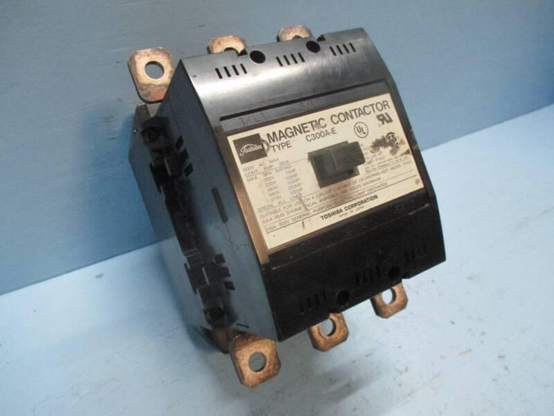 Toshiba C300A-E 280 Amp Magnetic Contactor 280A 240V Coil 600 Vac 200 HP 220 Vdc