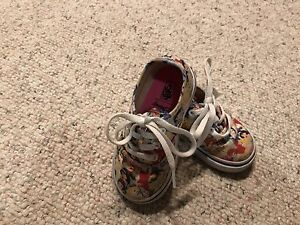 Disney Vans shoes toddler 5 1/2