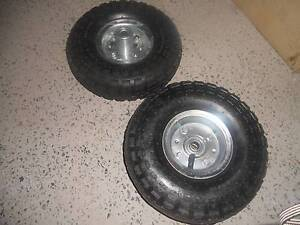BRAND NEW Wheelbarrow Tyres / Wheels  Steel Rims - ONLY $15 Hinchinbrook Liverpool Area Preview