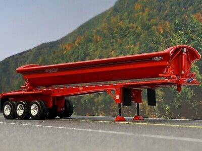 1/64 DCP RED SMITHCO TRI-AXLE SIDE DUMP TRAILER 2