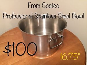 Costco Professional Stainless Steel Bowl for sale!