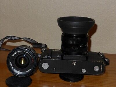 Canon F1N new with AE prism with 50/1.4 lens and 35/2 fd lenses. Ex++ condition