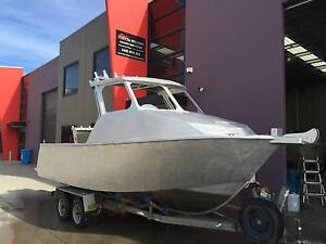 6.2m aluminium plate boat hard top bare hull only Carrum Downs Frankston Area Preview