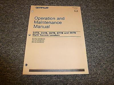 Caterpillar Cat 287b Multi Terrain Loader Skid Steer Owner Operator Manual