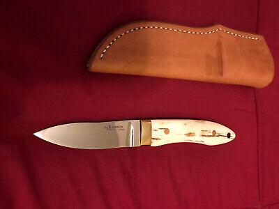 S.R. JOHNSON CUSTOM KNIFE-18.K GOLD-WALRUS- ONE-OF-A-KIND-LOVELESS PARTNER