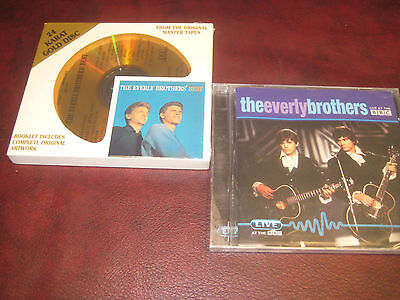 EVERLY BROTHERS DCC Best Ever Hits 24 KARAT GOLD LIMITED RARE CD + LIVE AT (Best Live Albums Ever)