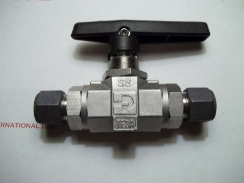"PARKER 1/2"" BALL VALVE 1/2 TO 1/2 COMPRESSION UNION 316 STAINLES 8Z-B8LJ2-SSP"