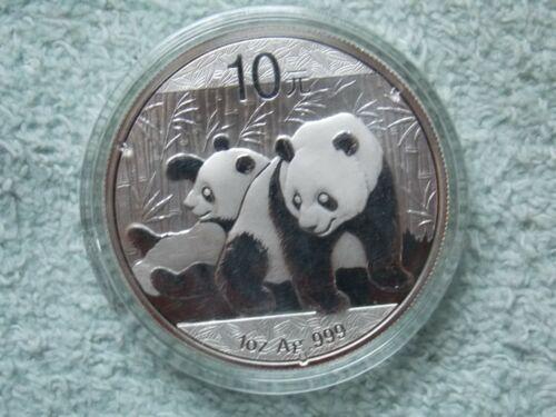 2010 Chinese Silver Panda 10 Yuan 1 OZ BU