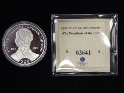 2000 Liberia $20 Presidents of the US Silver Proof - Andrew Jackson