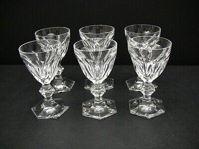 """Baccarat Crystal HARCOURT Port Wine Glasses 4 7/8"""" / Set of 6"""