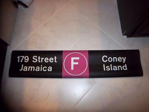 NYC SUBWAY ROLL SIGN F TRAIN JAMAICA CONEY ISLAND STILLWELL JAY STREET BROOKLYN