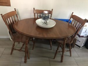 Real Wood Dining Table and Chairs Set
