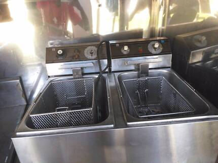 commercial Twin Deep Fryer Chester Hill Bankstown Area Preview