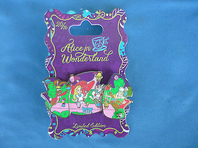 ALICE IN WONDERLAND  Disney Pin 2016 Mad Tea Party   65th ANNIVERSARY  LE NEW