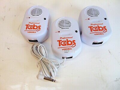 Lot Of 3 Professionals Tabs Voice 25222 Patient Fall Monitor Bed Alarm S4829