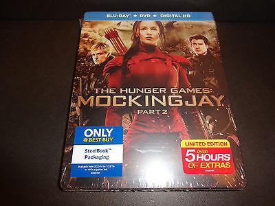 HUNGER GAMES: MOCKINGJAY-Pt 2-Jennifer Lawrence leads rebellion-BEST BUY STEELBK - Buy Hunger Games 2