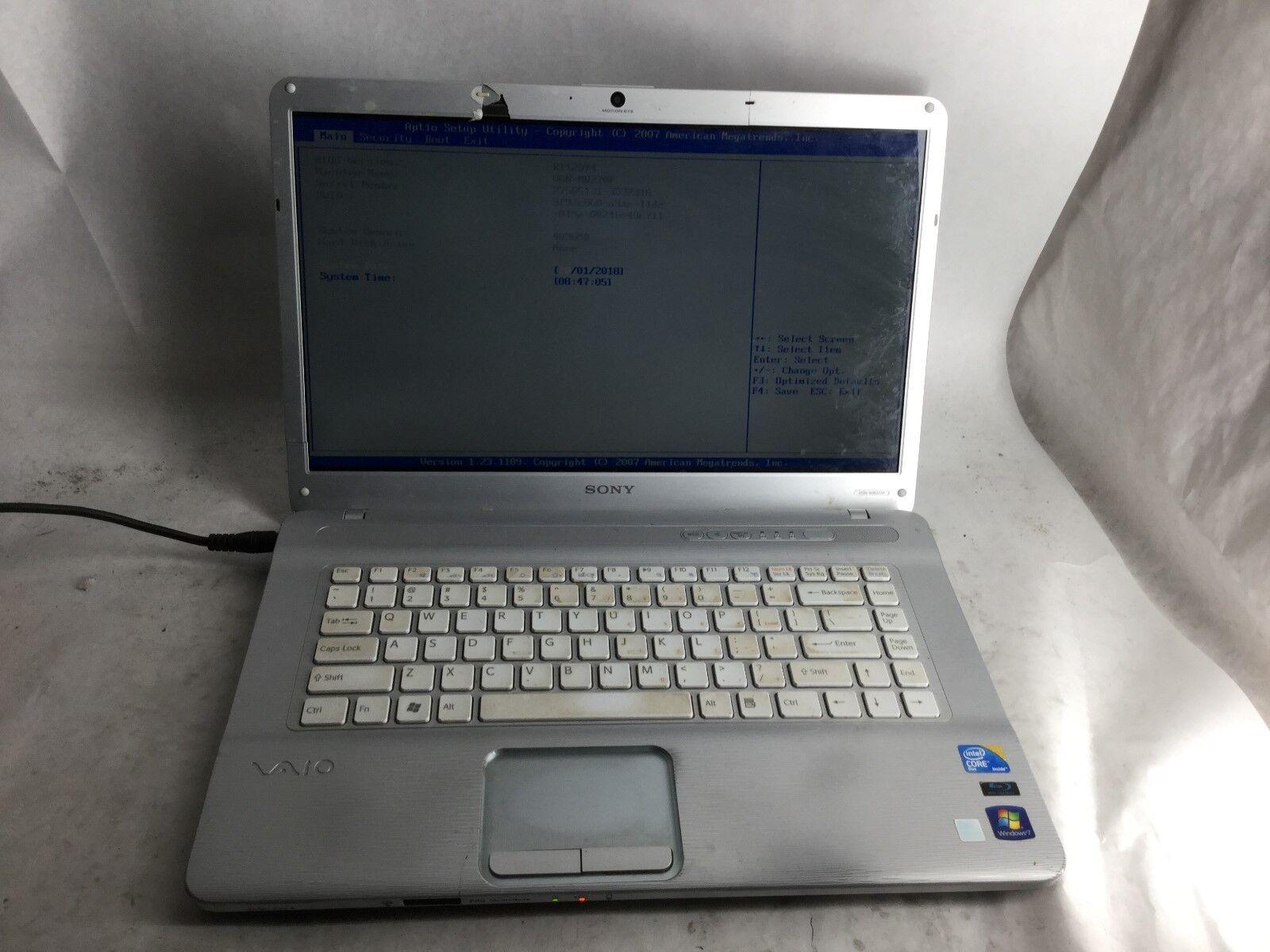 Sony VaioPCG-7184L Intel Core 2 Duo CPU 4GB RAM Laptop -CZ