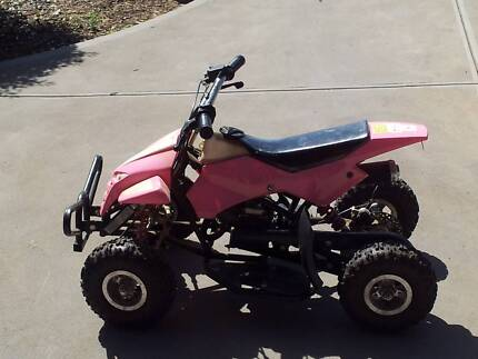 4 wheeler 50cc  2stroke goes great suit  kids up to 80 kilo