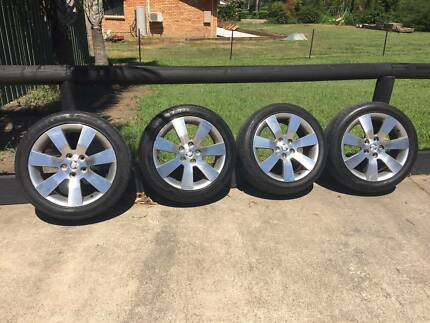 "18"" Holden alloy mag rims with Tyre's"