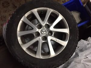 Mazda 5 RIMS with 3 Summer & 1 Winter TIRES - Like New!