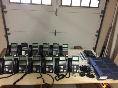 NEC SV8100 Digital/VoIP Phone System with 12 24-button phones