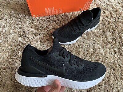 Nike Epic React Flyknit 2 ® Uk 8.5 Men's Running Shoes BQ8928-002 Black White