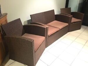 4 SEATER RATTAN OUTDOOR SETTING VGC