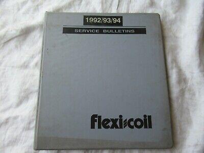 1992-1994 Flexi-coil Service Bulletins Manual Air Seeder Cultivator Sprayers