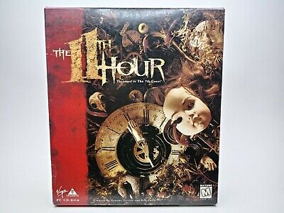 The 11th Hour Trilobyte Big Box PC CD-ROM Game Puzzle Adventure
