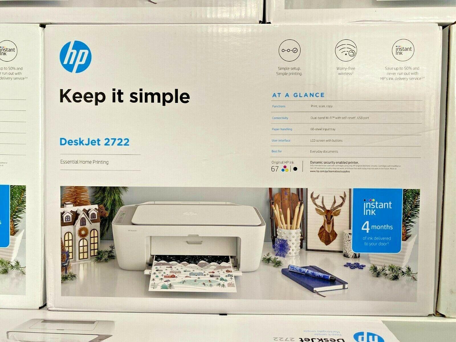 HP DeskJet 2722 All-in-One Wireless Color Inkjet Printer Bra