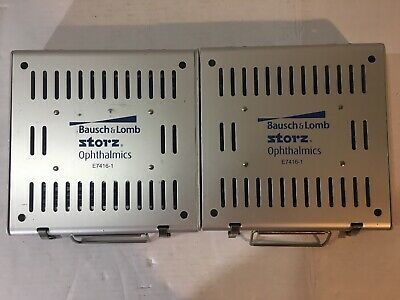 Lot Of 2 Storz E 7416-1 Delicate Instruments Sterilization Case Tray Ophthalmics