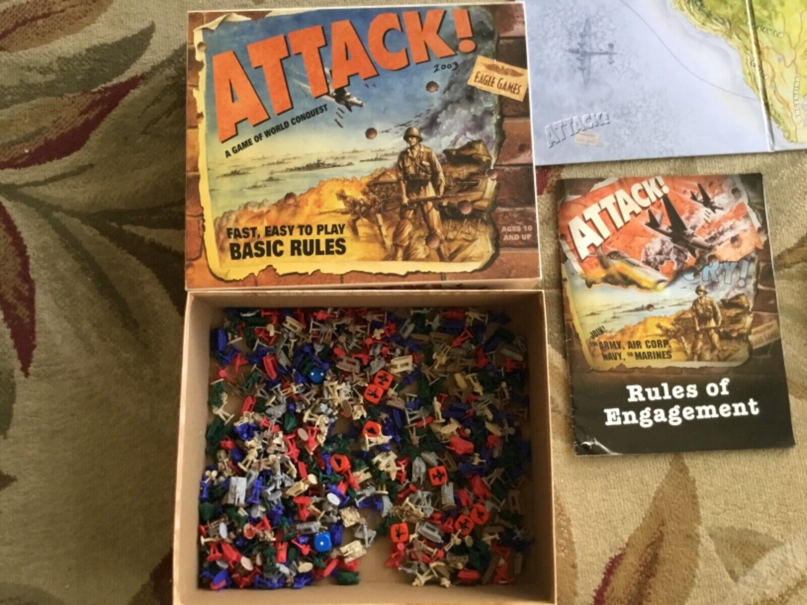 Board Game ATTACK EAGLE GAME COMPLETE. - $15.00