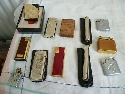 Vintage joblot cigarette lighters x 12 (Ronson, Colibri in box, Motoporola, etc