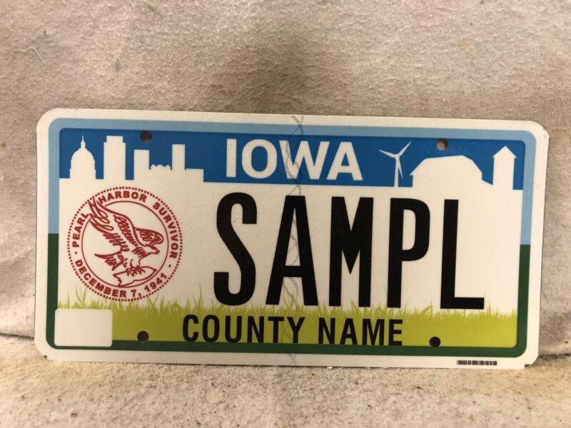 Iowa Pearl Harbor Survivor Sample License Plate