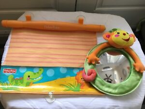 Fisher price car shade and baby mirror