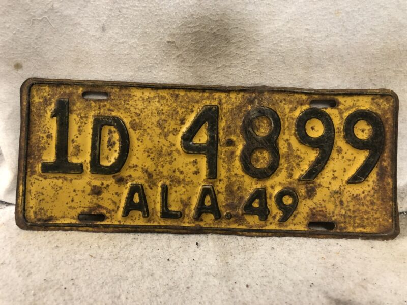 Vintage 1949 Alabama License Plate