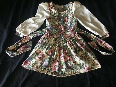 Used AMY TOO  BYER CALIFORNIA GIRLS SIZE 12 GORGEOUS DRESS White /Mix Flowers - Gorgeous Flower Girl Dresses