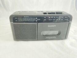 SONY Dream Machine ICF-C610 AM/FM Cassette Dual Alarm Clock Radio Tested Working