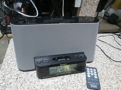 Sony ICF-CS10iP Dream Machine 2 Alarm Clock /AM/FM Radio iPod-in W/ Remote