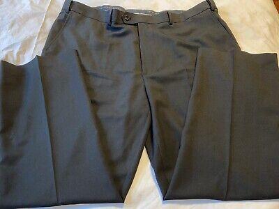 Geoffrey Beene Mens Black Dress Pants 44 X 30 WAIST EXTENDER Big & Tall